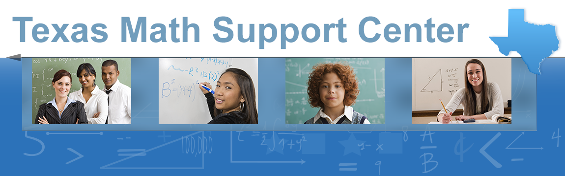 Texas Math Support Center banner